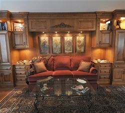 Maple wood wall unit